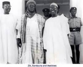 Biafra . Zik, Bello & Awo