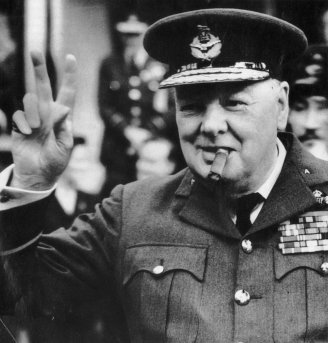 Churchill . Sir Winston Churchill